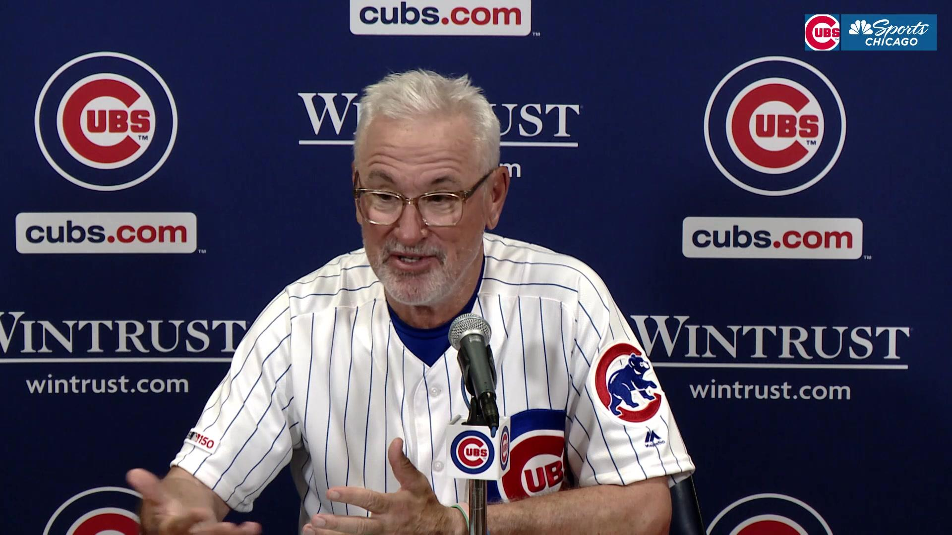 Cubs on needed rest