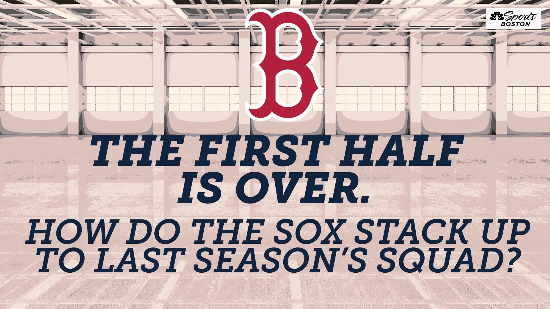 How do the Red Sox compare to last season's team after 81 games?