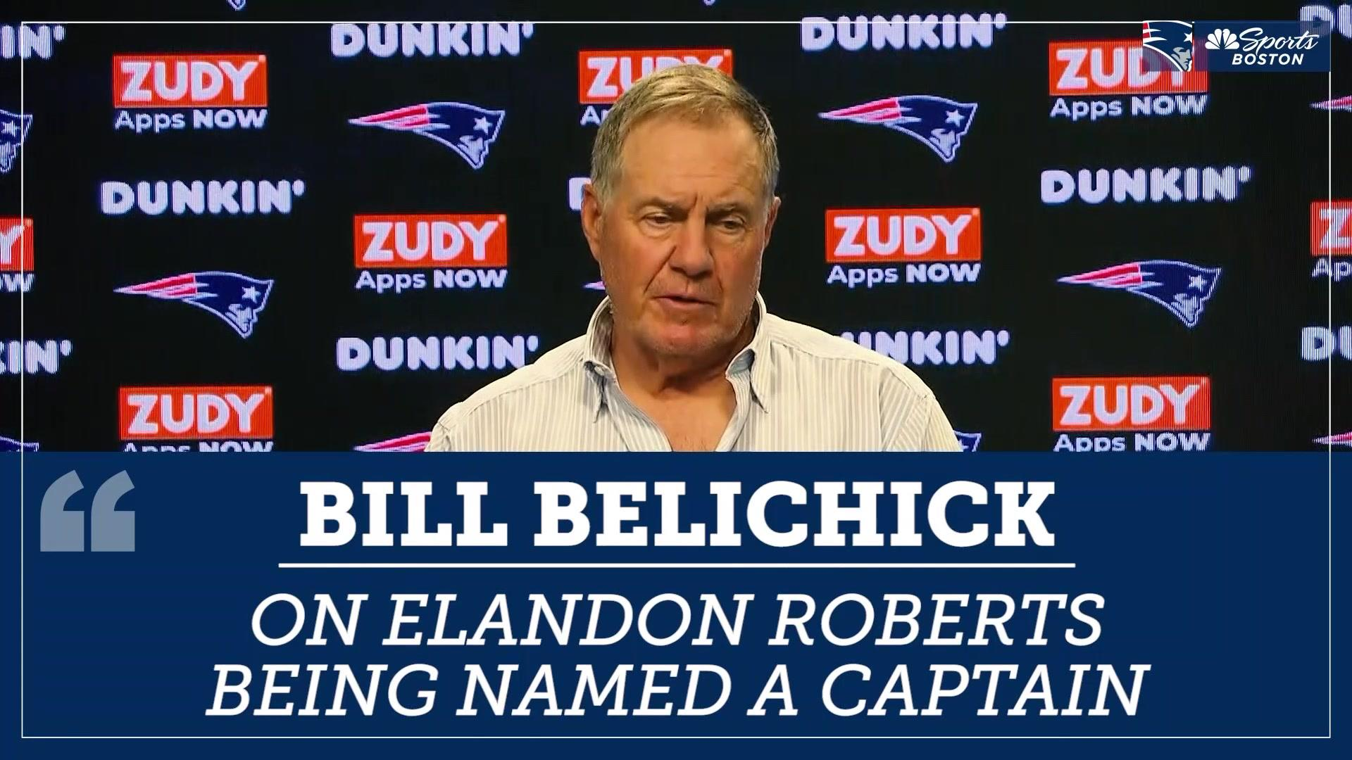 Bill Belichick commends new captain Elandon Roberts for unselfishness