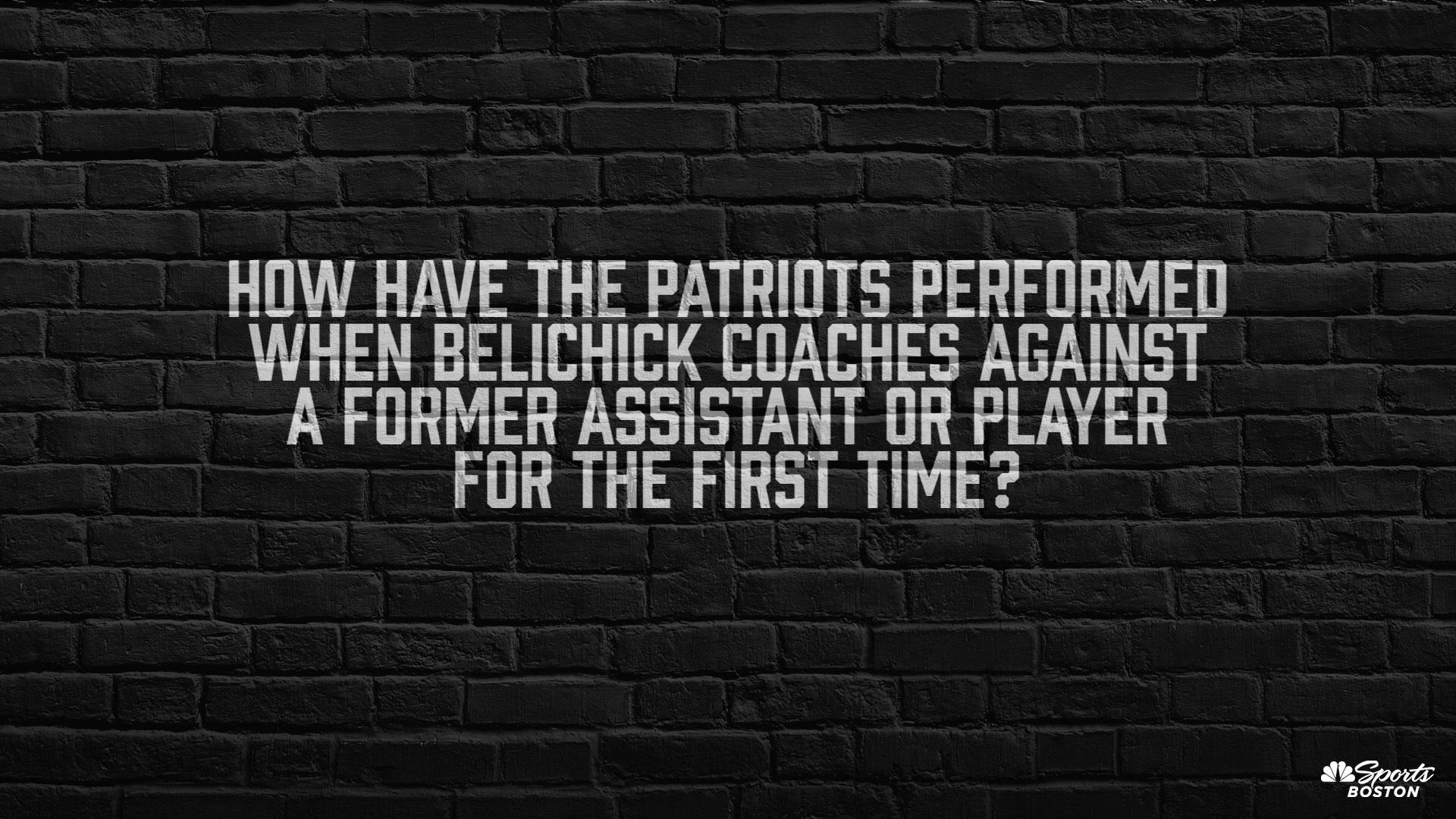 How do the Patriots play against former Belichick assistants/players?