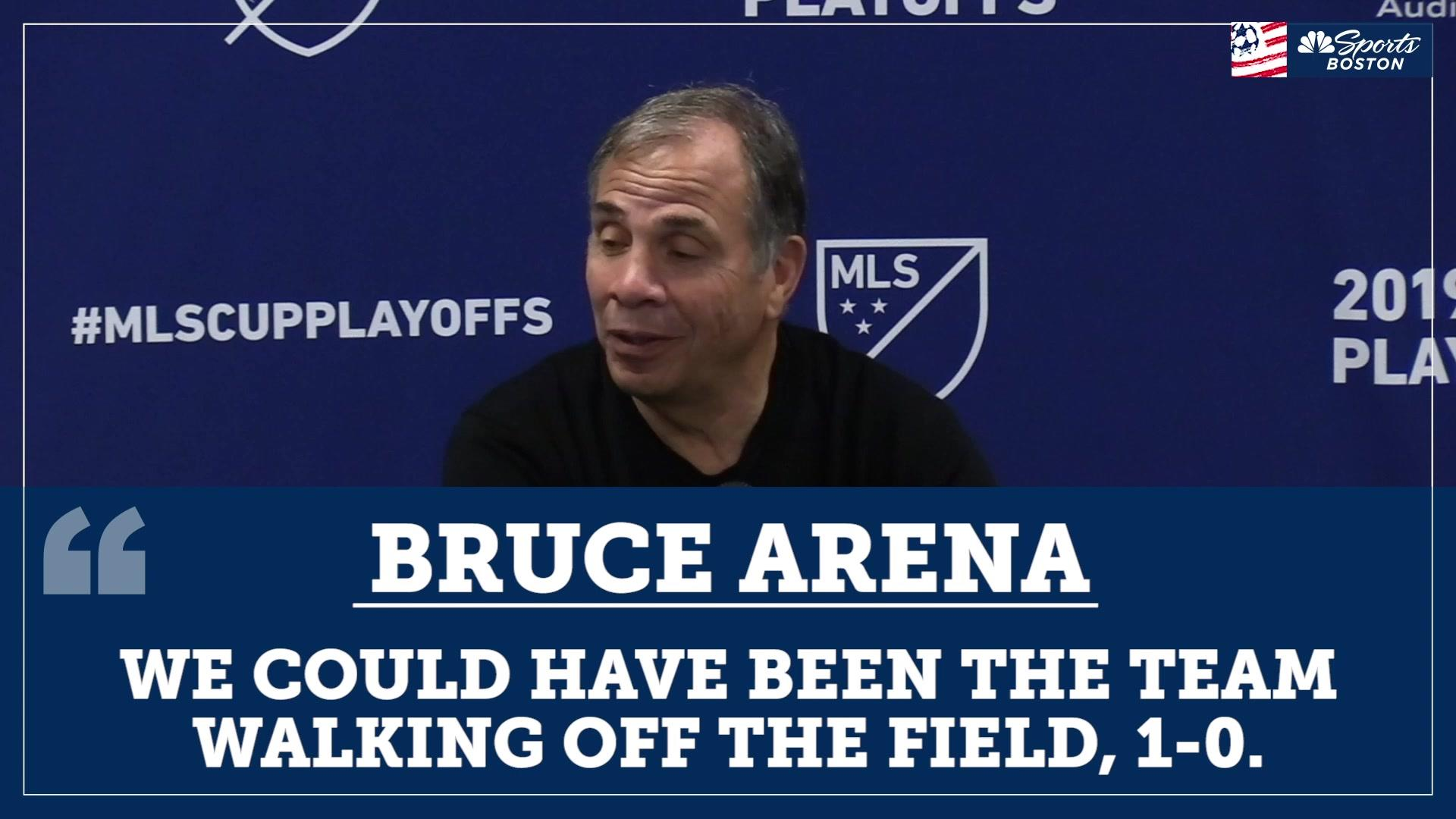Bruce Arena after Revolution's loss: We expected to go toe-to-toe