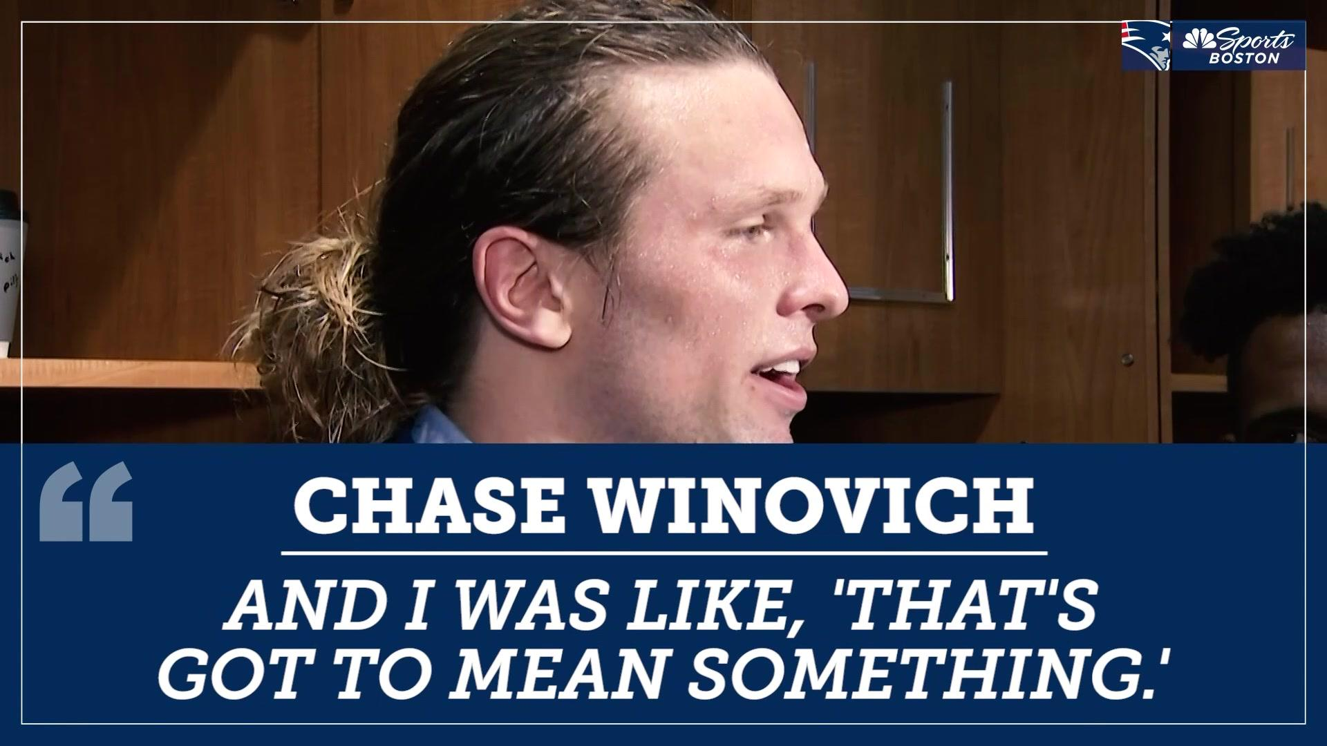 Chase Winovich had some inspiration behind his first career sack