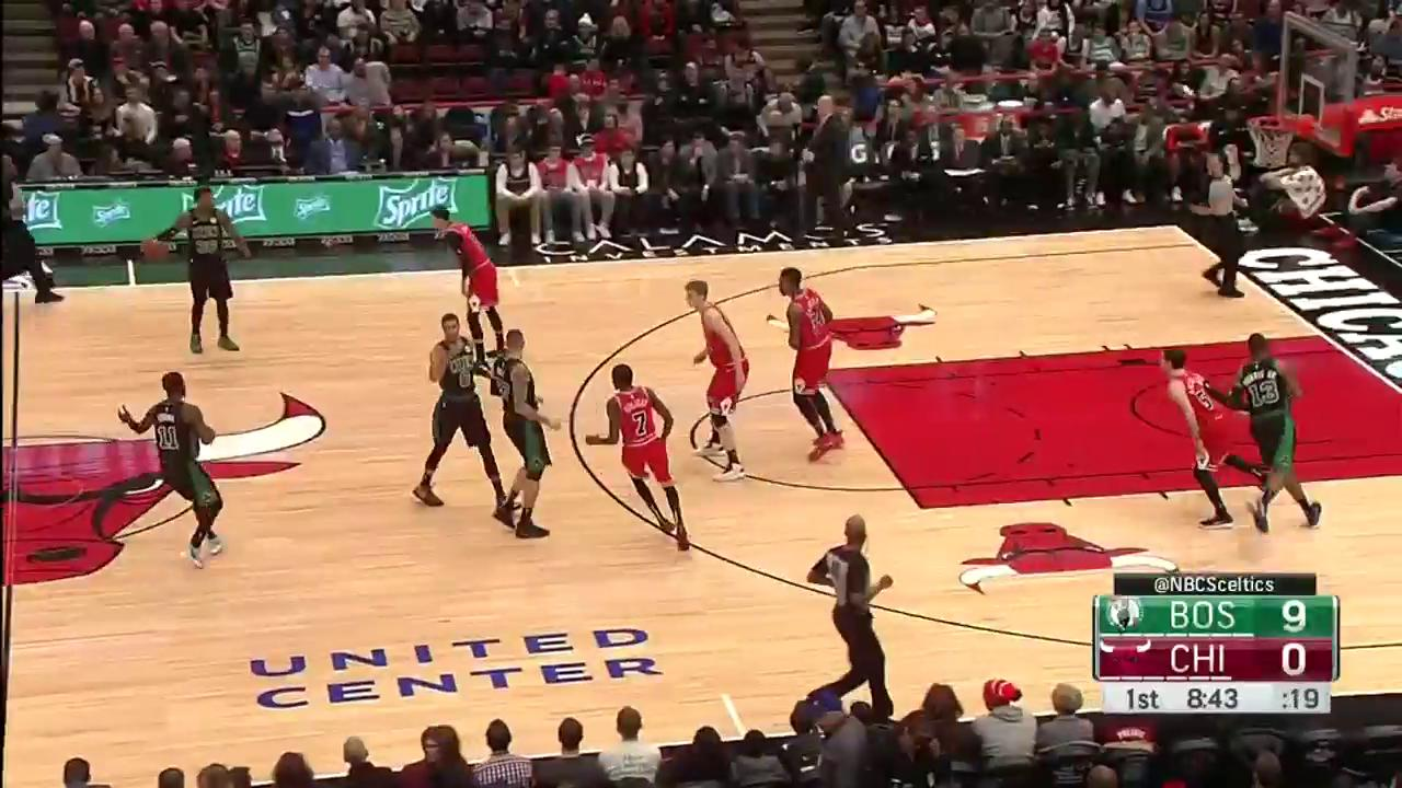 Marcus Smart to Daniel Theis for lob and lay-in