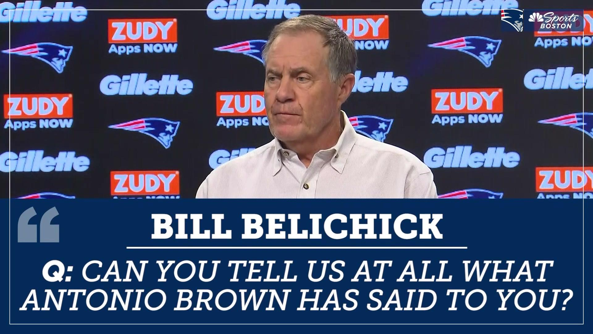 Bill Belichick fends off media's questions on Antonio Brown situation