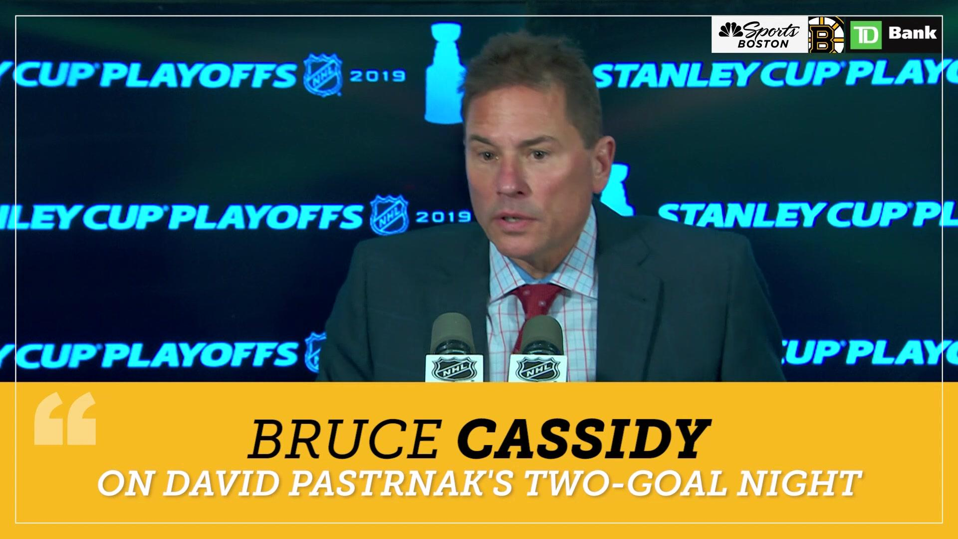 Bruce Cassidy: David Pastrnak 'recharged' by two-goal performance