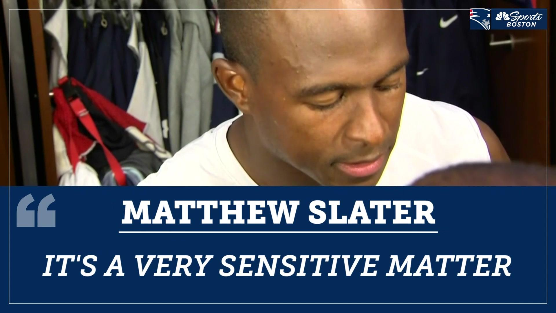 Matthew Slater reacts to the allegations against Antonio Brown