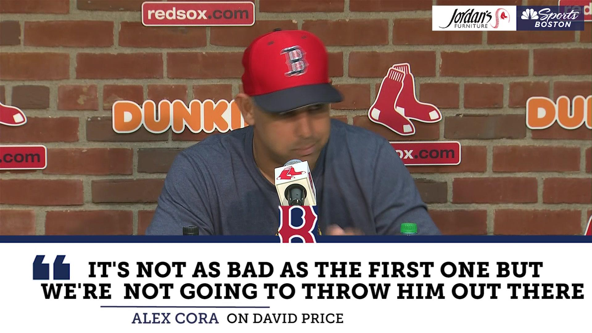 David Price suffers setback after bullpen session