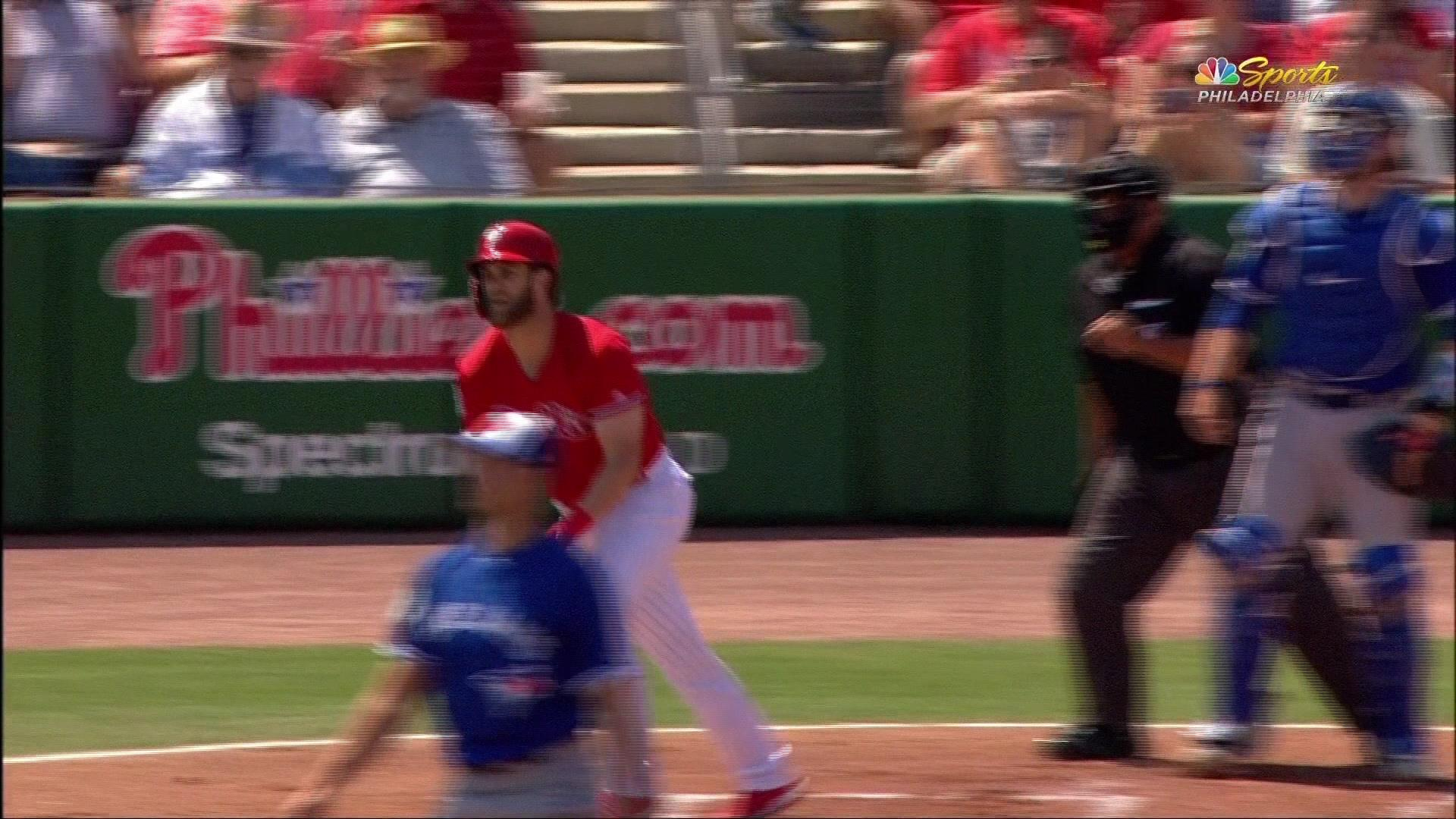Bryce Harper smashes his first home run as a Philadelphia Phillie
