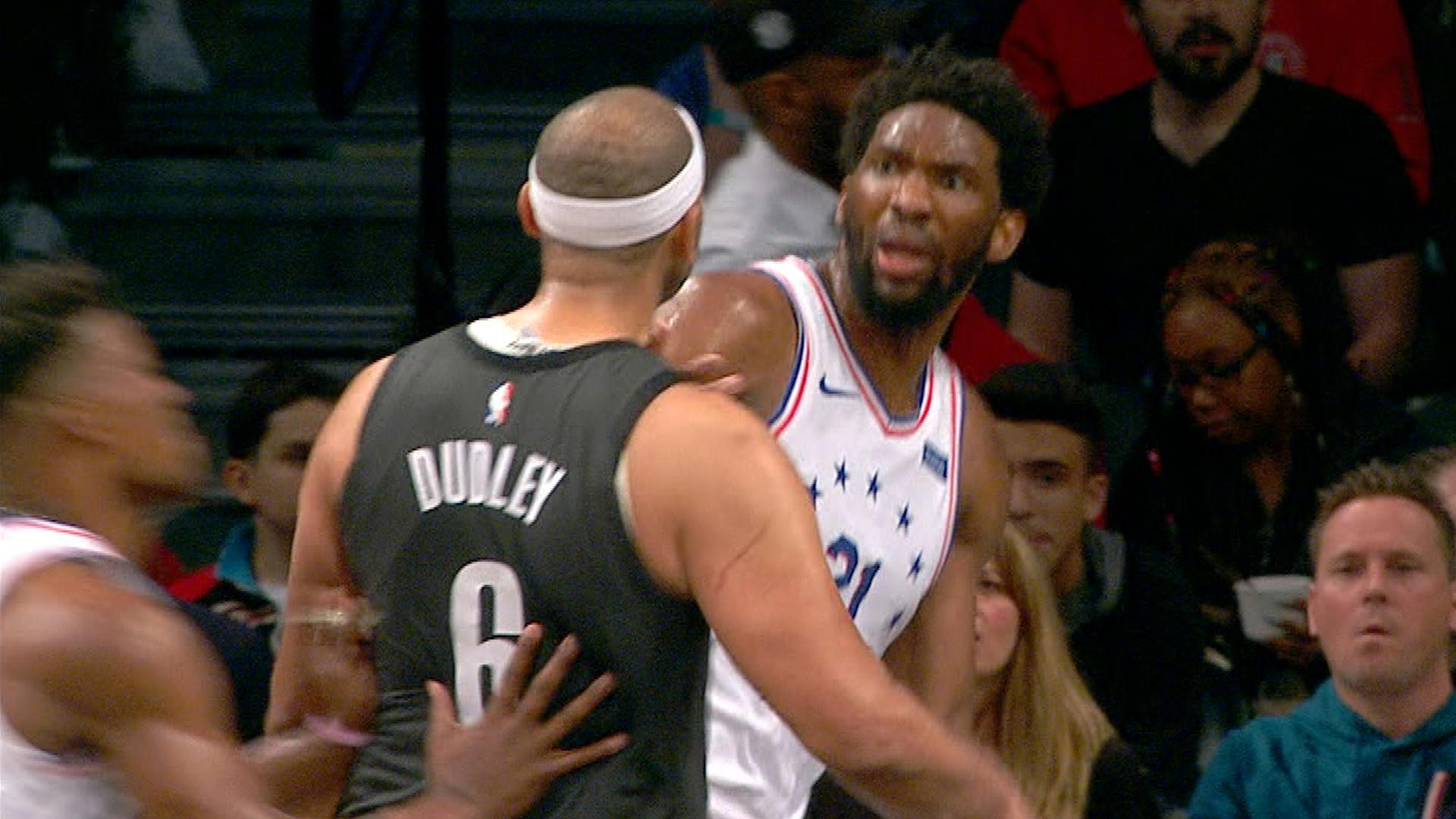 Jared Dudley regrets not getting his money's worth on shove on Joel Embiid