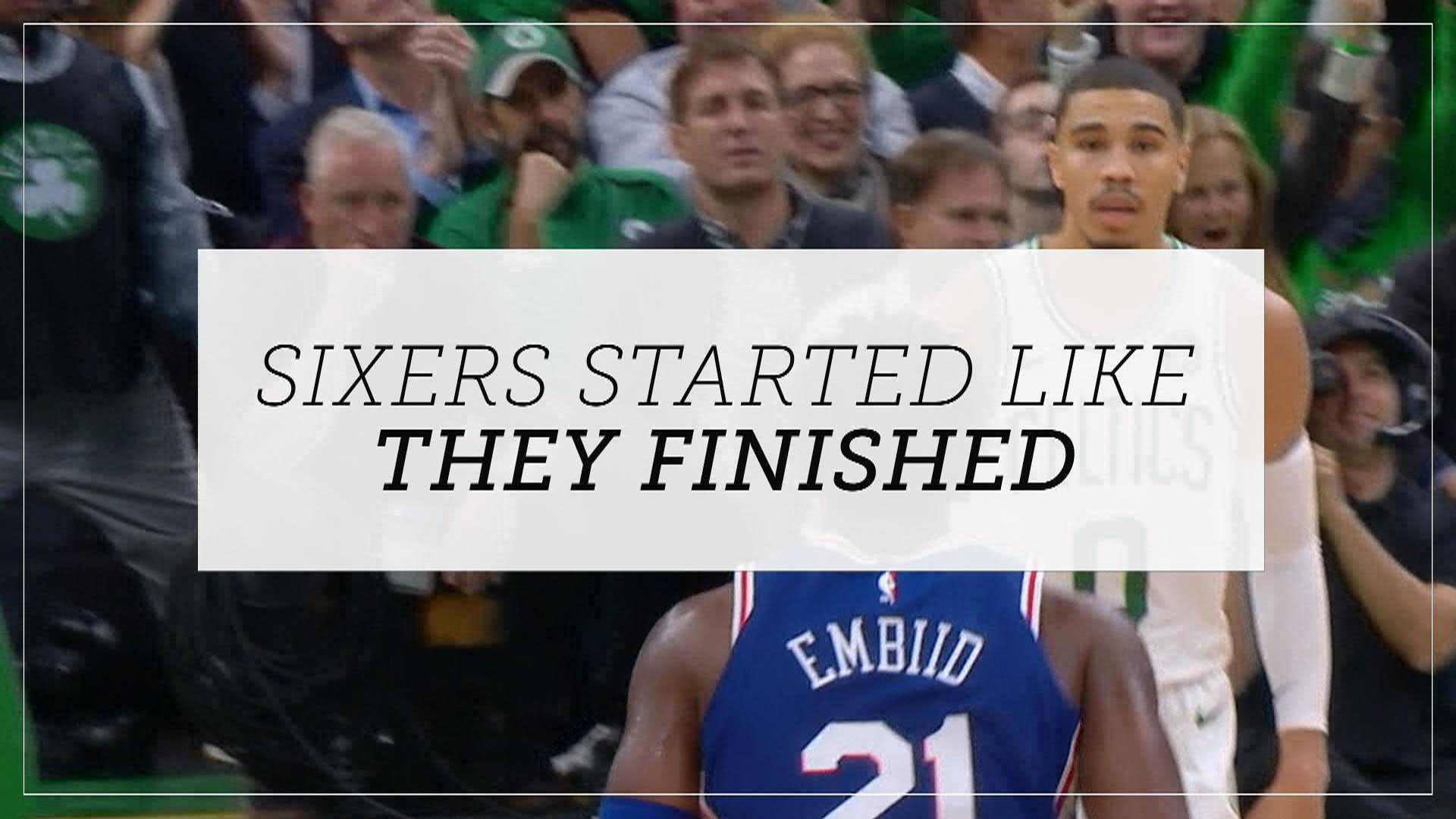 What went wrong for the Sixers in their home-opener against the Celtics?