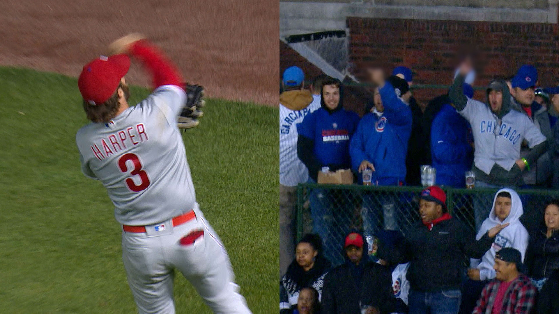 Bryce Harper trolls Cubs fans by throwing ball out of the park