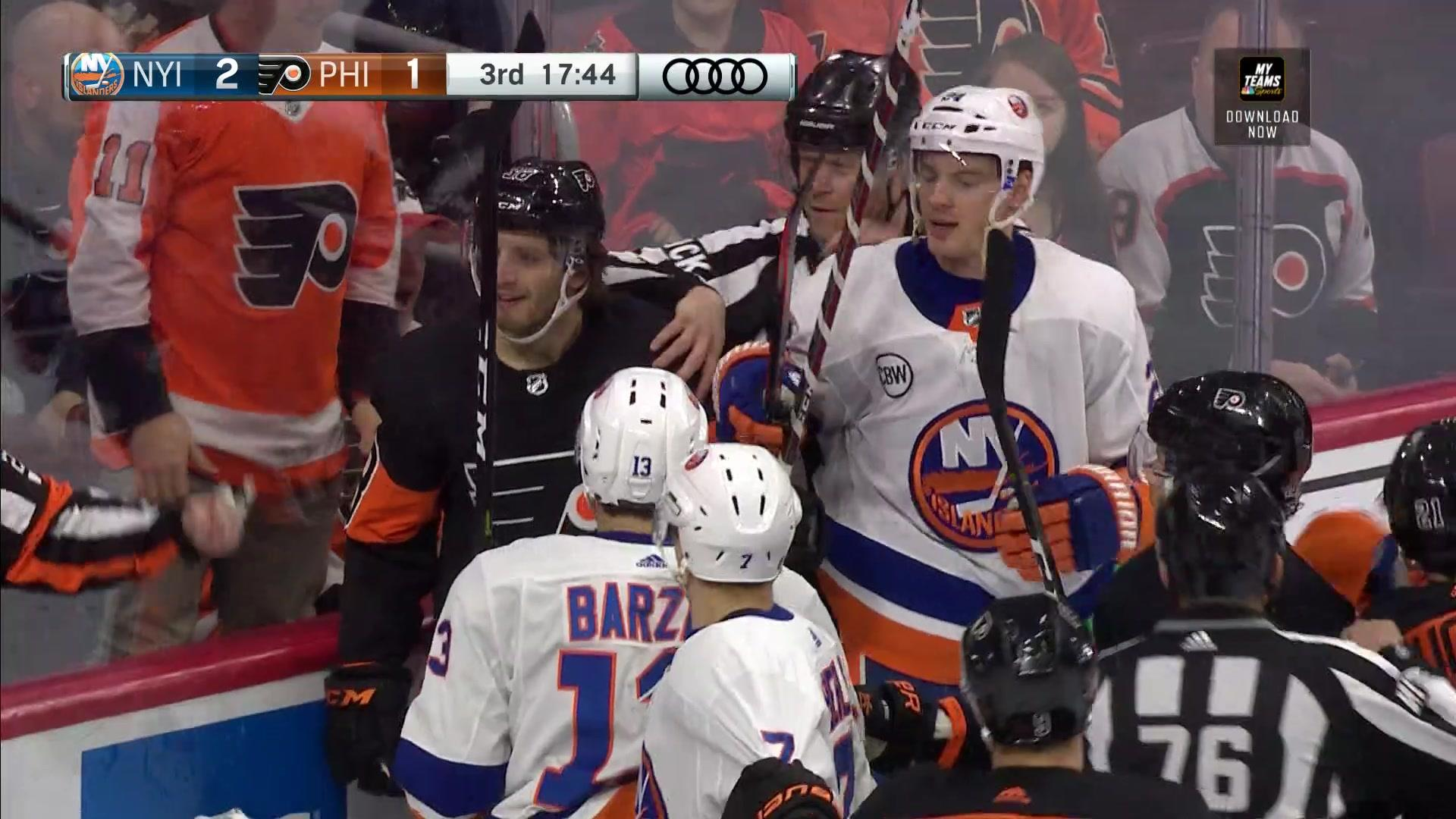 More questionable calls early in the third period vs. Islanders