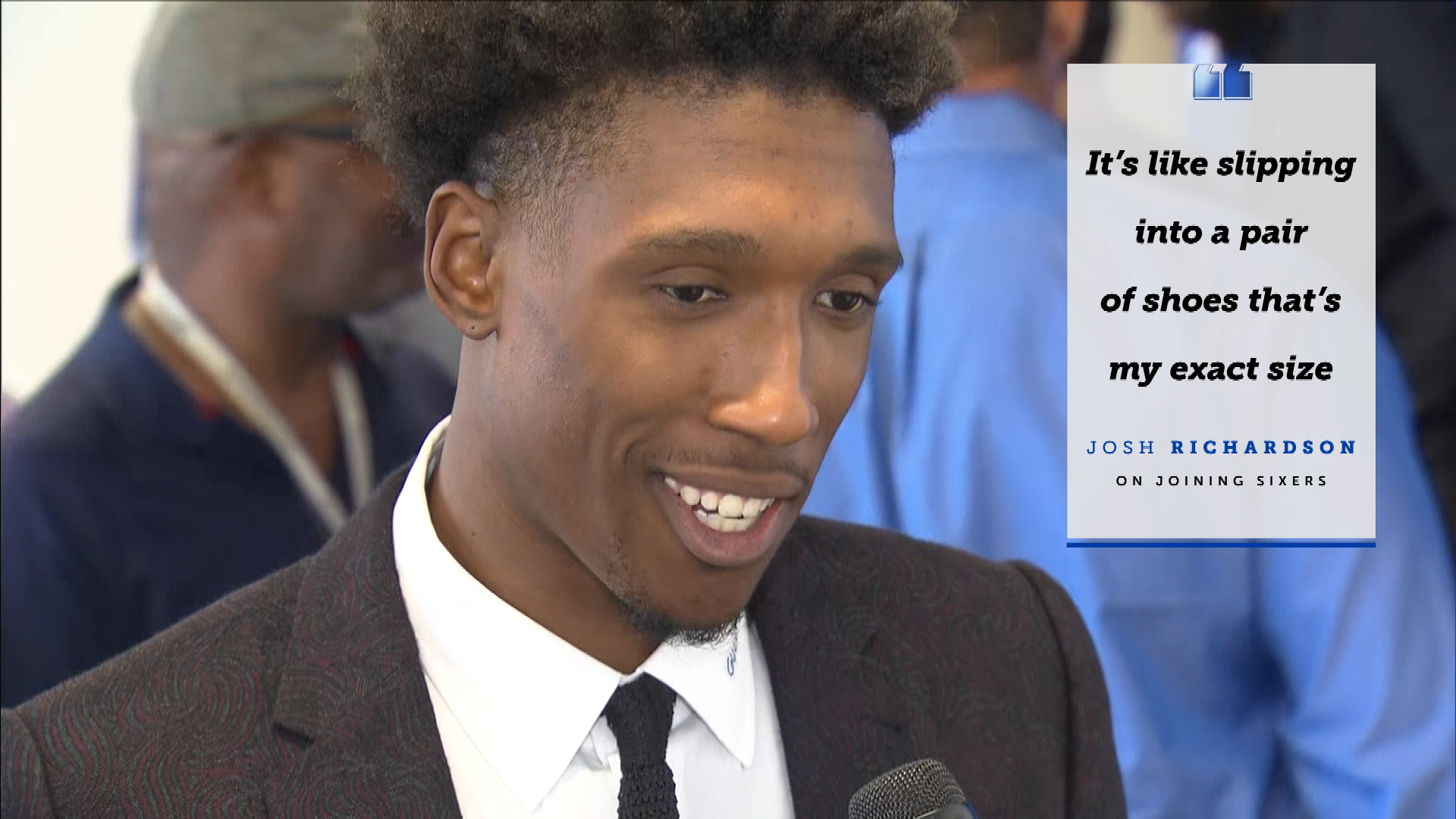 Why does Sixers' guard Josh Richardson feel like he fits so well in