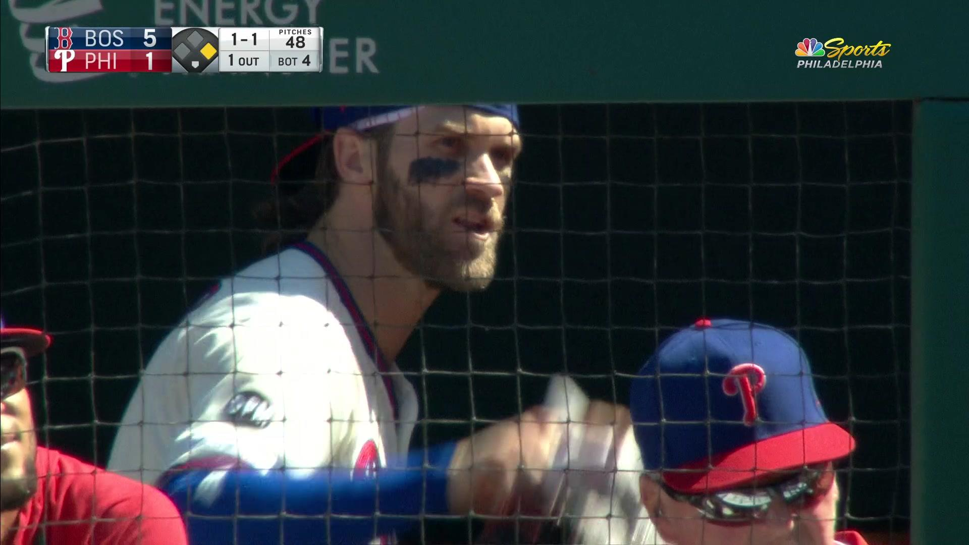 Bryce and Gabe ejected after Harper chirped the from the dugout