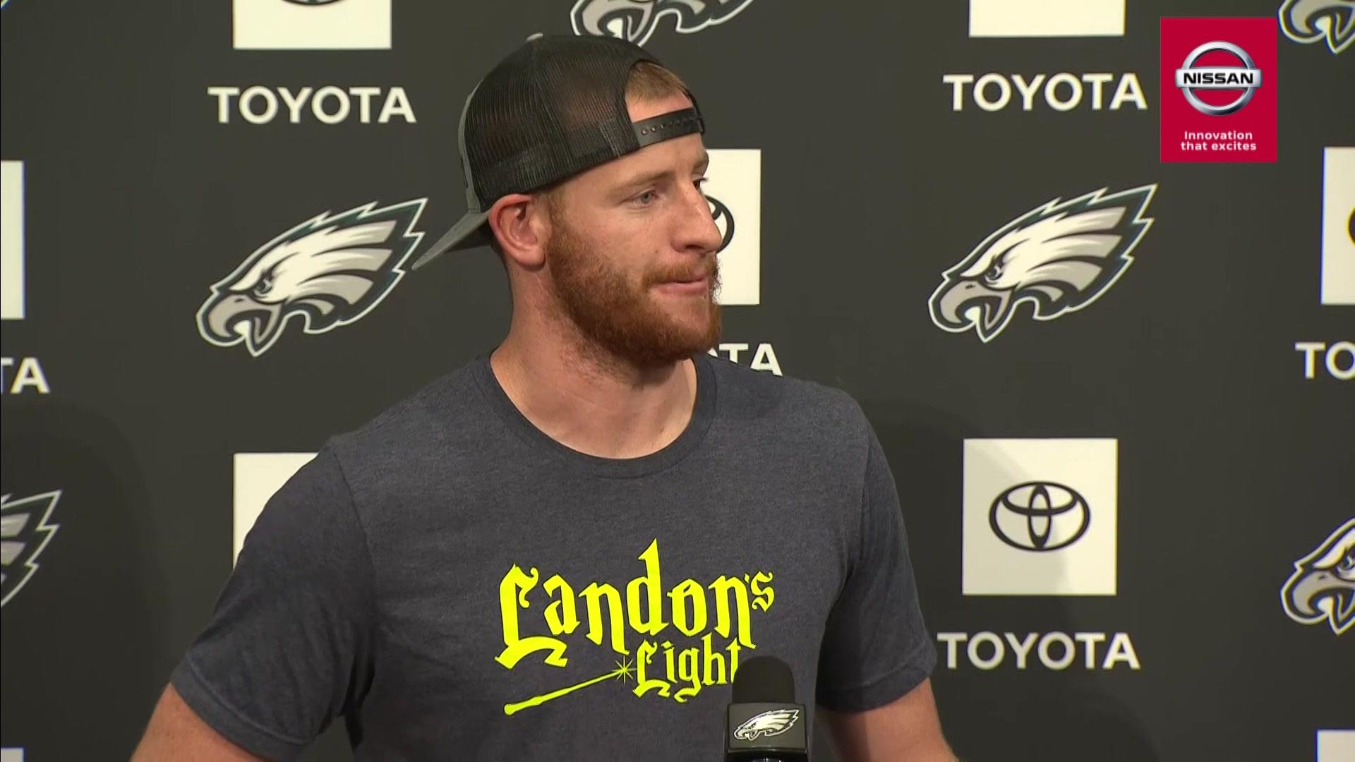 Emotional Wentz honors 12-year-old from Fargo who lost life to cancer