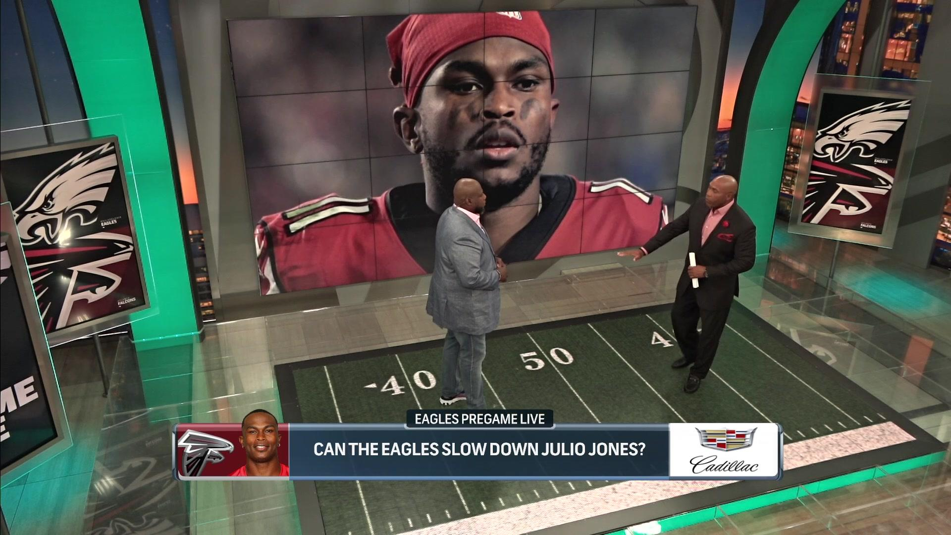 How can the Eagles slow down Julio Jones?