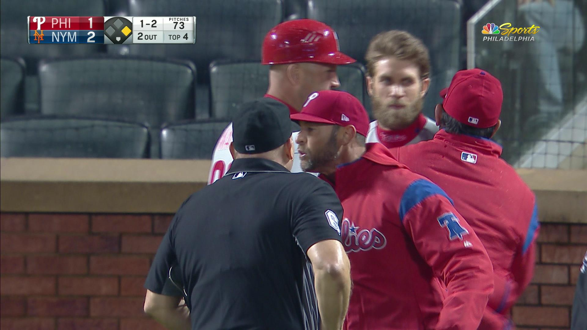 Bryce Harper ejected after arguing bad strike call