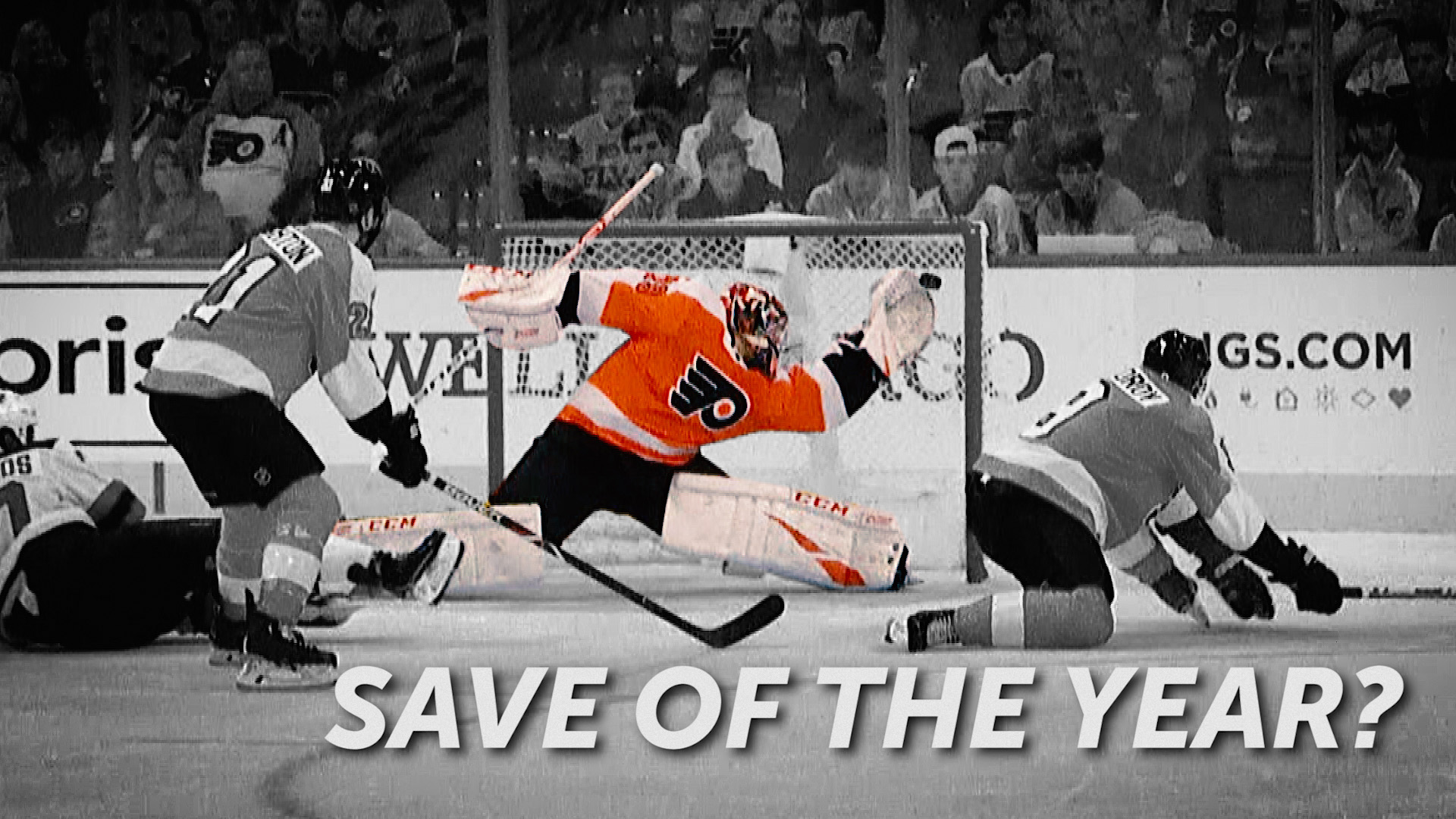 Every angle of Carter Hart's insane save in the Flyers 2019 Home