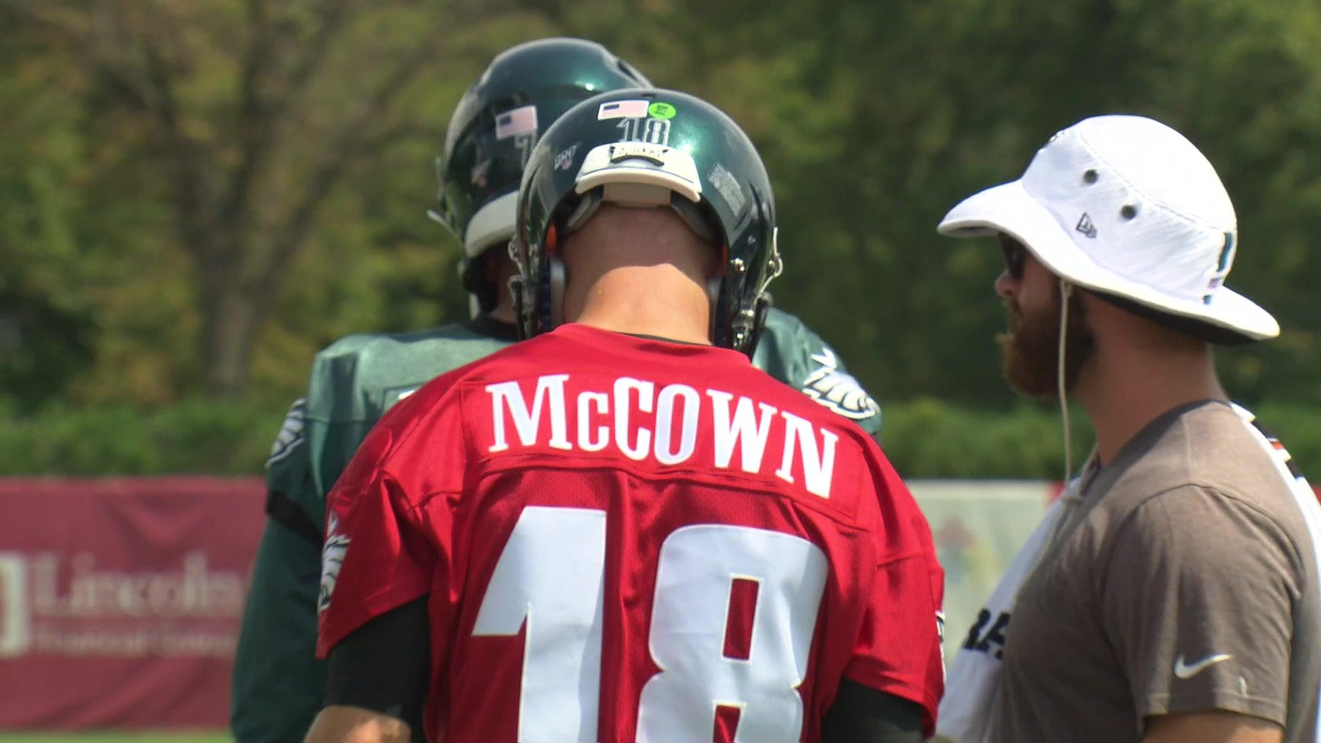 Hear from Doug and Josh McCown on the addition of the veteran