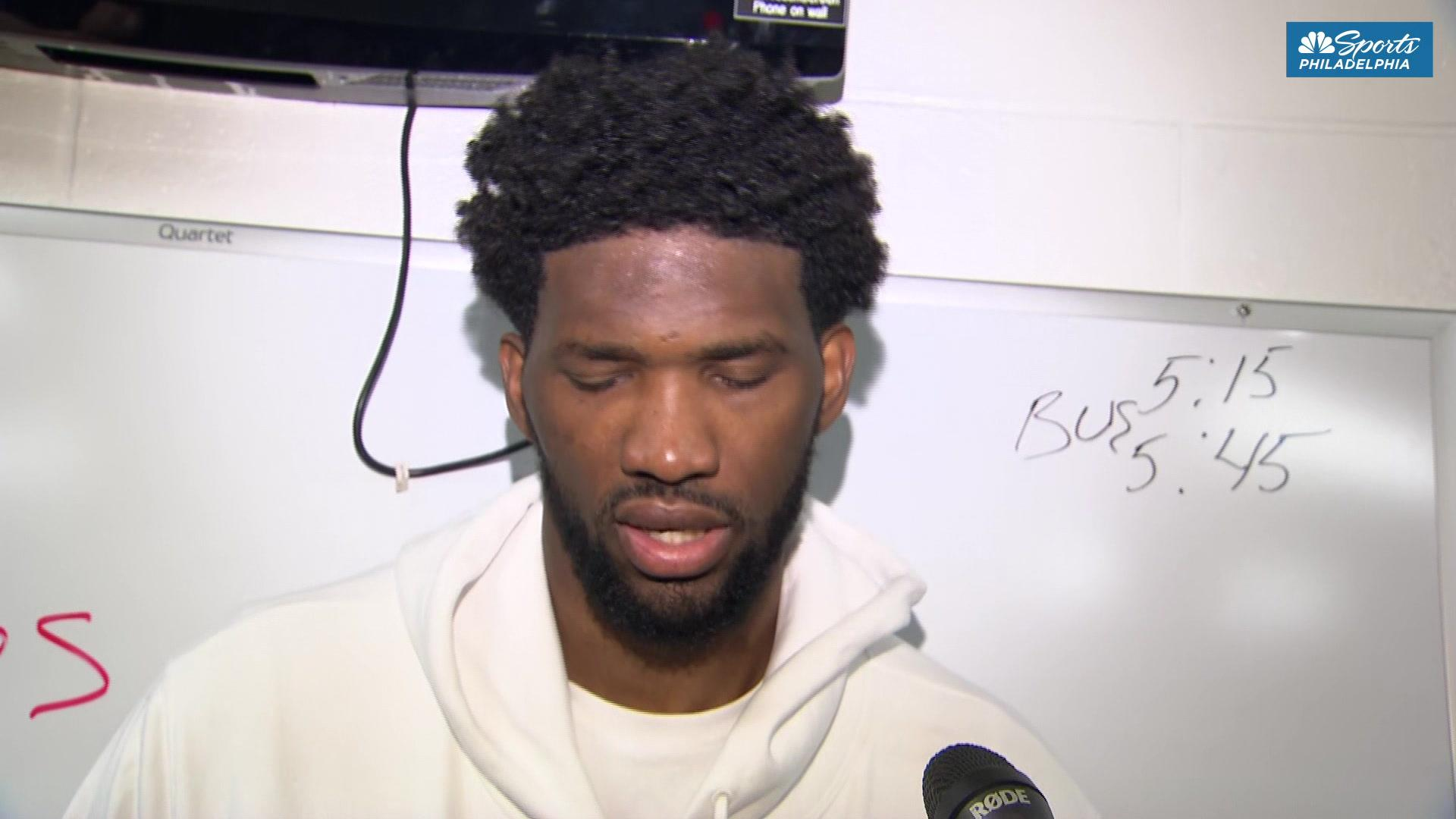 Joel Embiid with some strong words after Sixers lose to Boston Celtics
