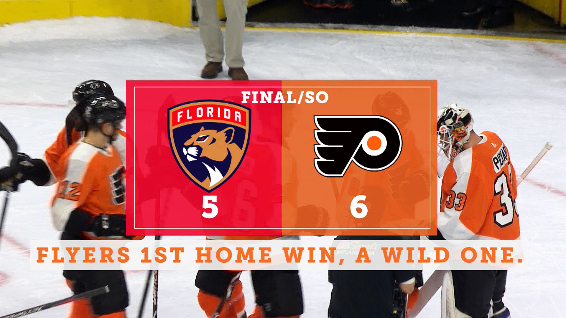 Philadelphia Flyers get their first home win in wacky fashion