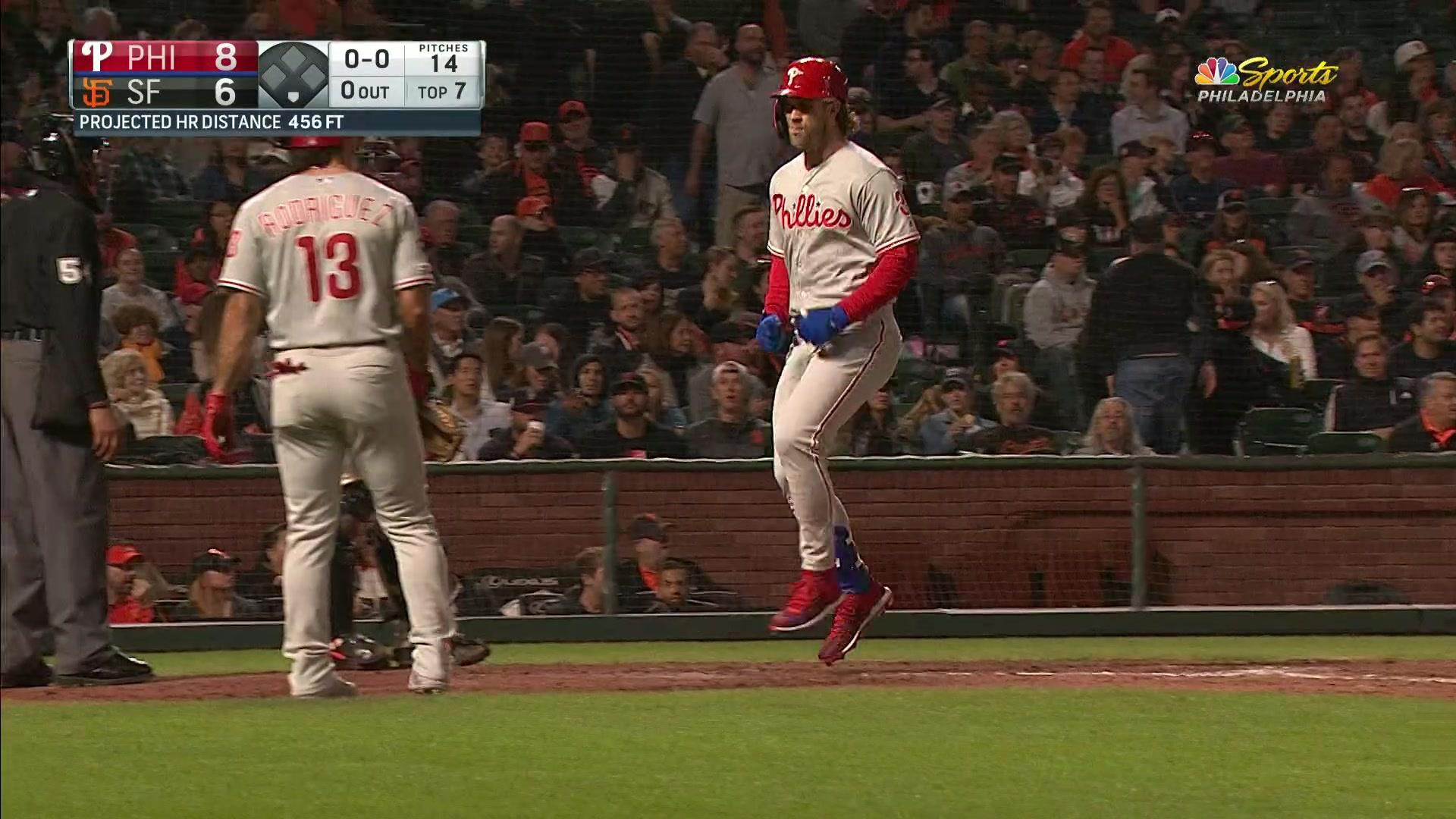 A pair of giant home runs give Phillies much-needed win | NBC Sports