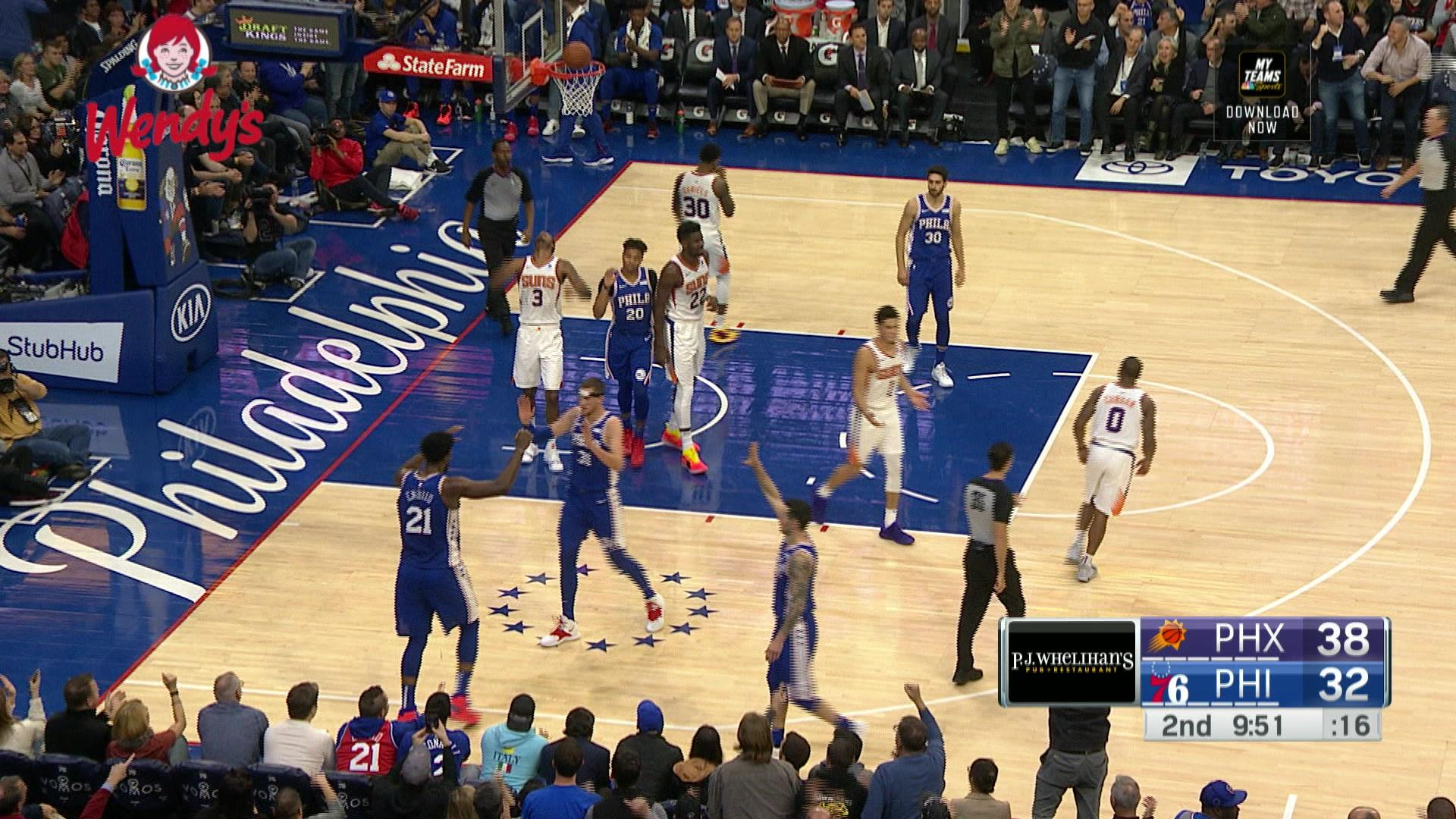 Joel Embiid gets it done on both ends against the Phoenix Suns