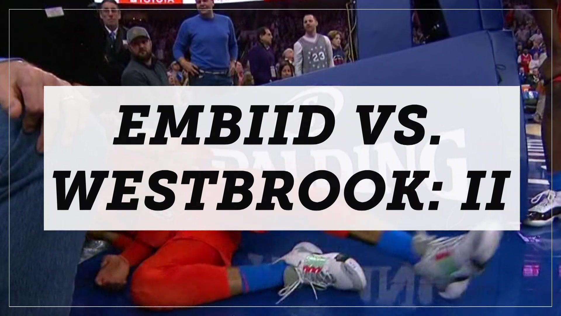 Joel Embiid and Russell Westbrook clearly not friends