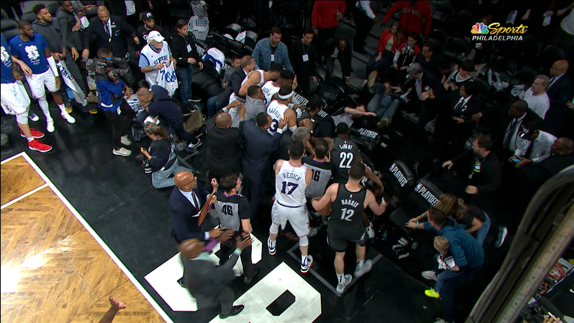 Jimmy Butler and Jared Dudley ejected after melee