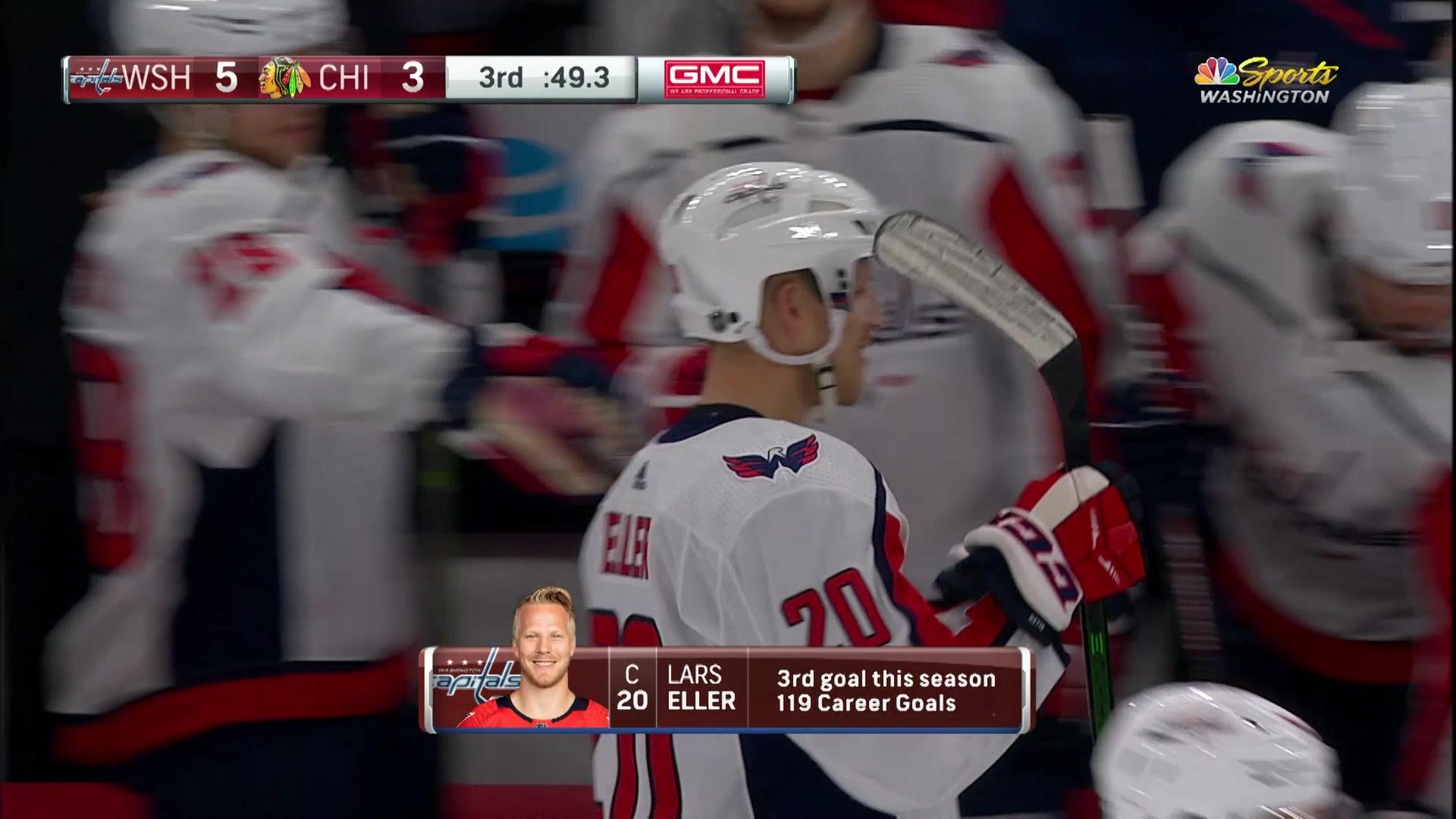 Lars Eller finishes off the Chicago Blackhawks with an empty-net goal
